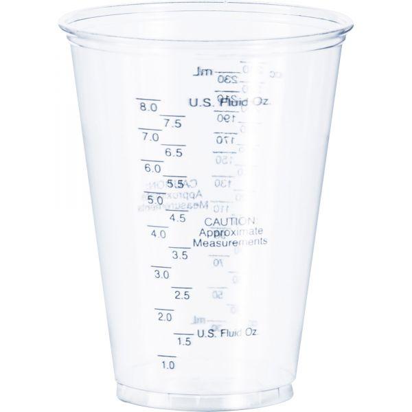 SOLO Cup Company Plastic 10 oz Graduated Medical & Dental Cups