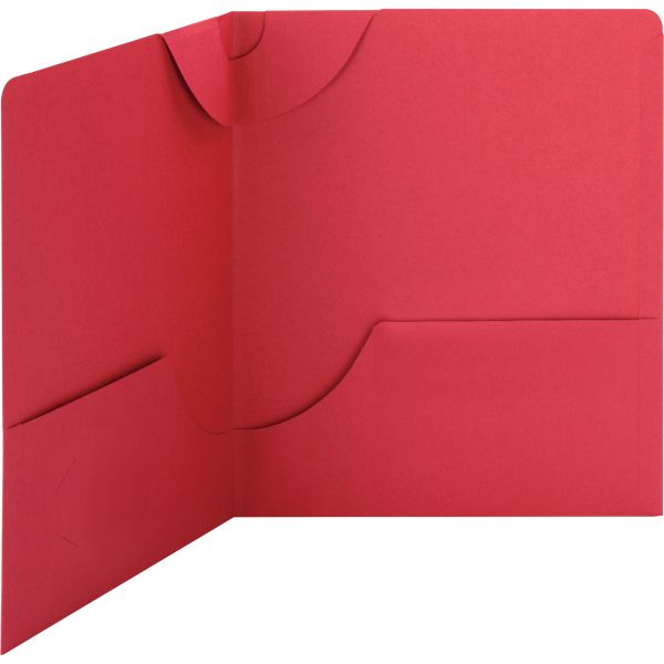 Smead Red Lockit Two Pocket Folders