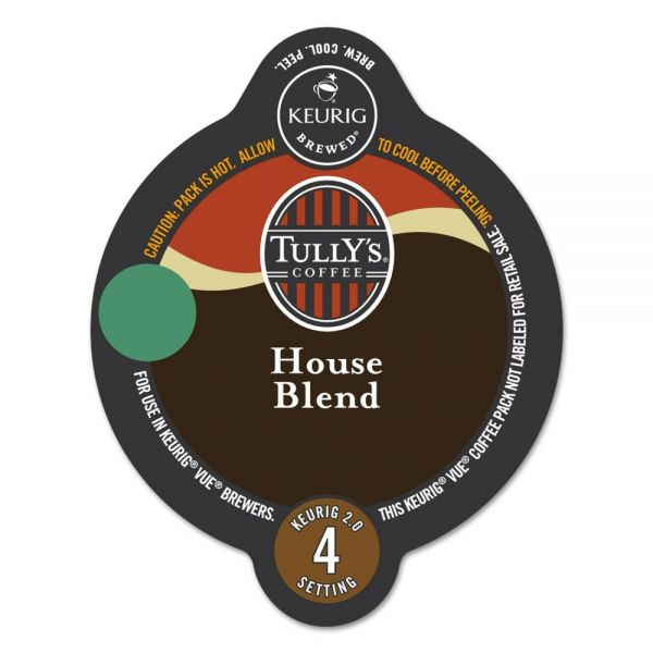Tully's Coffee House Blend Coffee Vue Pack