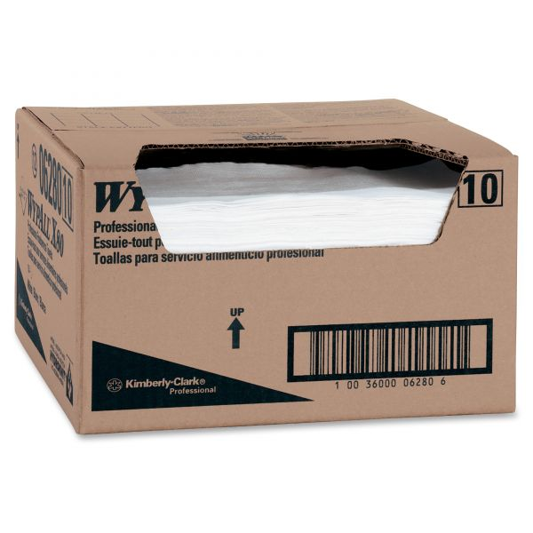 Professional WYPALL X80 Hydroknit Quarterfold Paper Towels