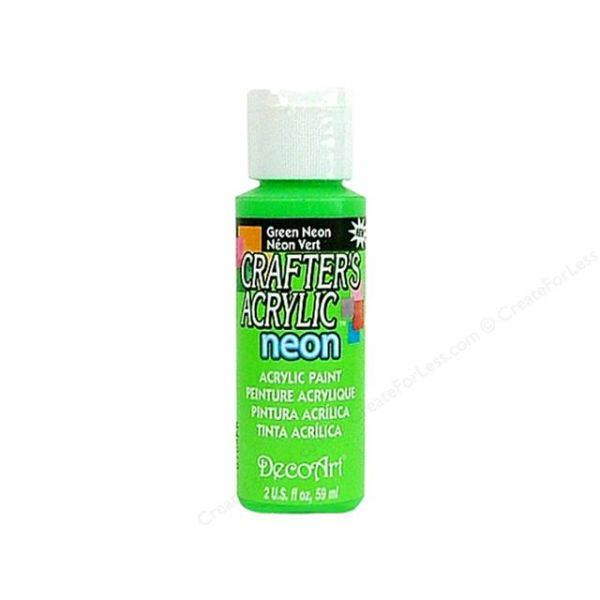 Deco Art Crafter's Acrylic Green Neon Acrylic Paint