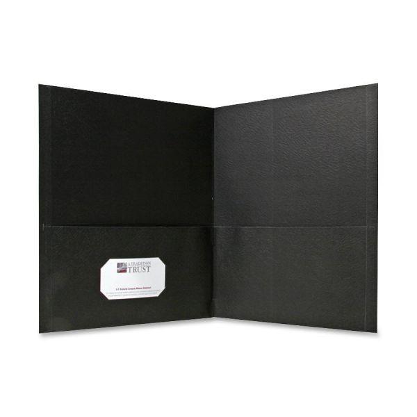 Sparco Black Two Pocket Folders