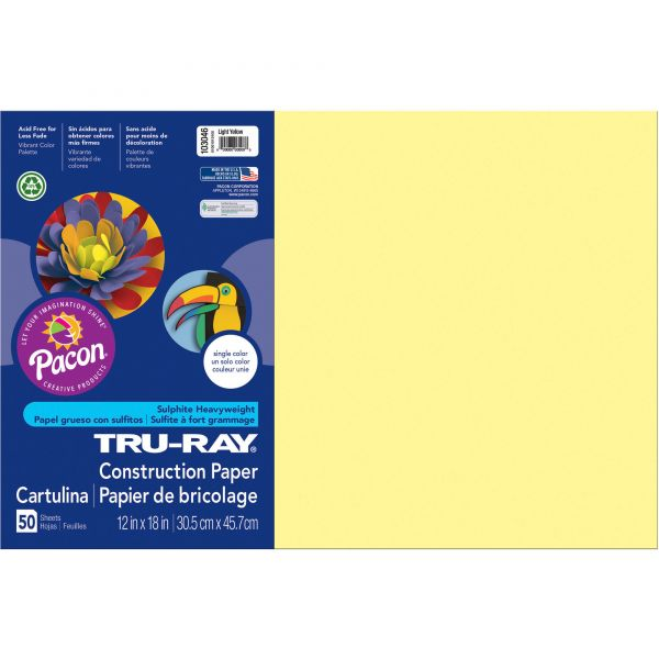 Tru-Ray Yellow Construction Paper