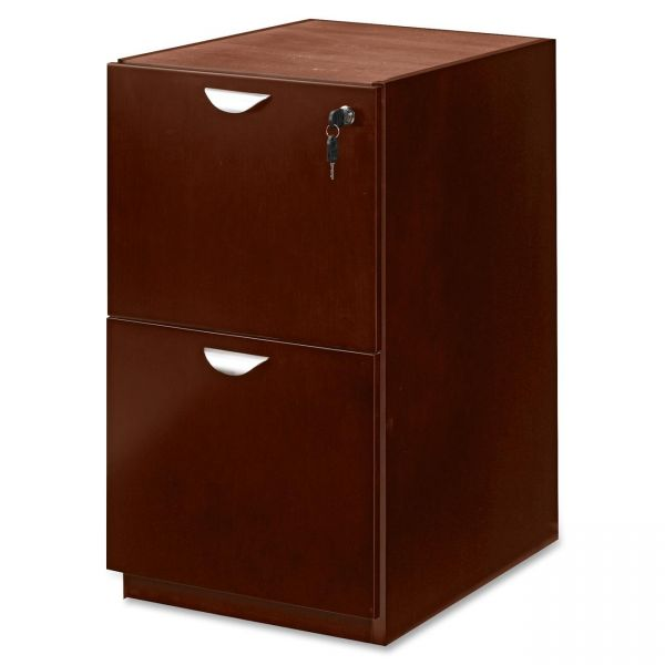 Mayline Mira Series File/File Credenza Pedestal, 15w x 22d x 27¾h, Medium Cherry