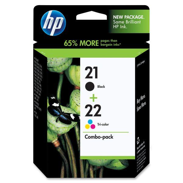 HP 21/22 Combo Pack Ink Cartridges (C9509FN)