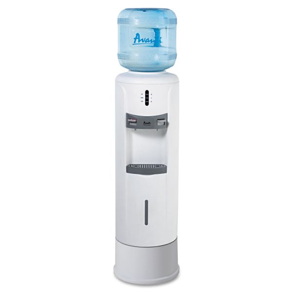 "Avanti Hot and Cold Water Dispenser, 12 3/4"" dia. x 39h, Ivory White"