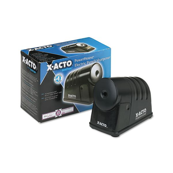 X-ACTO Powerhouse Desktop Electric Pencil Sharpener, Black