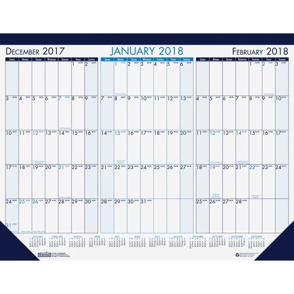 House of Doolittle Three Month Desk Pad Calendar