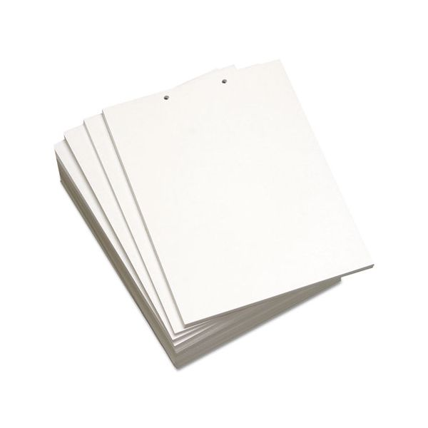 Domtar Custom Cut-Sheet Copy Paper, 20 lb, 8 1/2 x 11, White, 2-Hole Top, 500 sheets/RM
