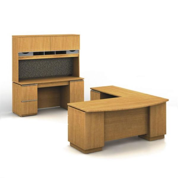 bbf Milano Executive Configuration - Golden Anigre finish by Bush Furniture