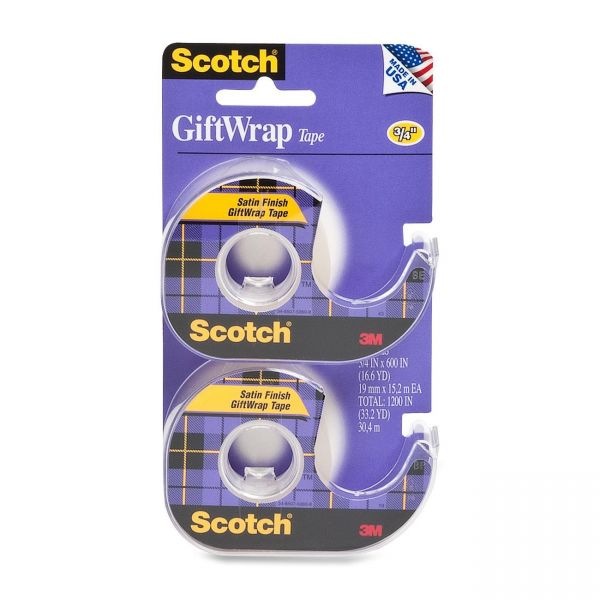 """Scotch GiftWrap 3/4"""" Invisible Tape"""