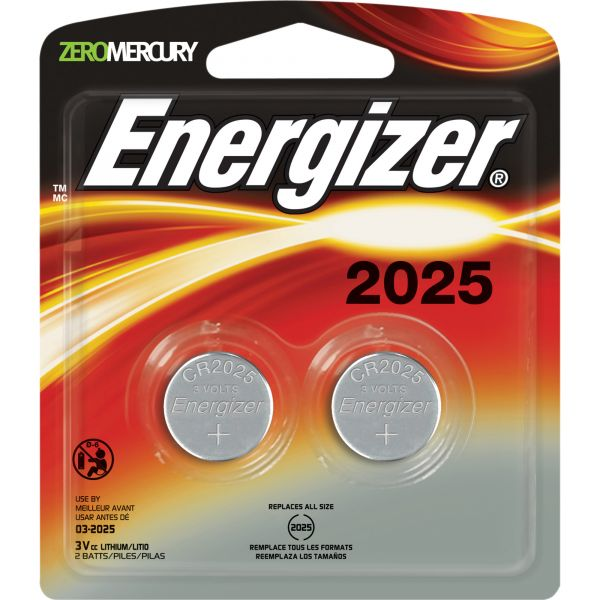 Energizer 2025 3V Watch/Electronic Batteries
