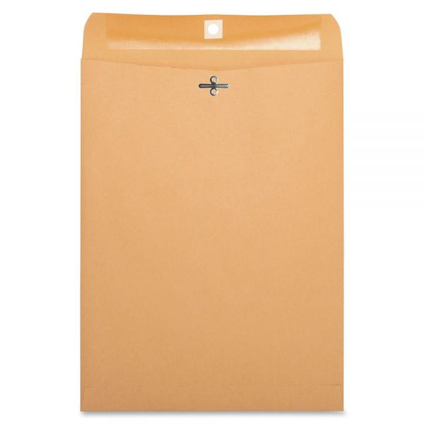 "Business Source Gummed 9"" x 12"" Clasp Envelopes"