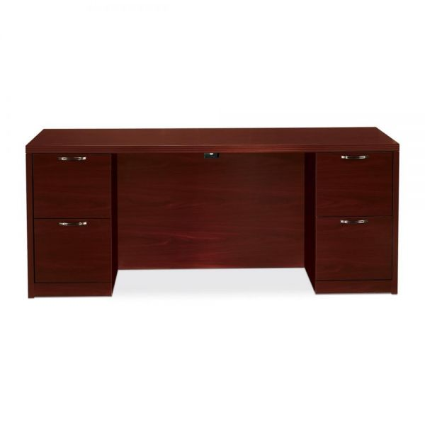 "HON Valido Double Pedestal Credenza with Kneespace | 4 File Drawers | 72""W"