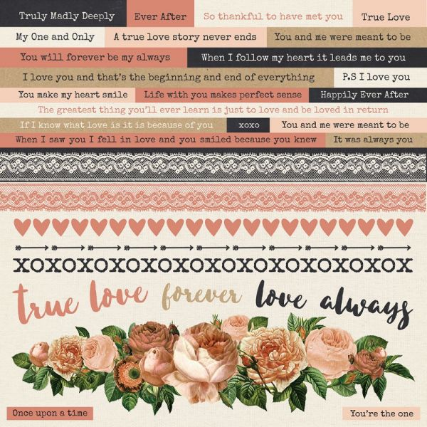 "Always & Forever Cardstock Stickers 12""X12"""