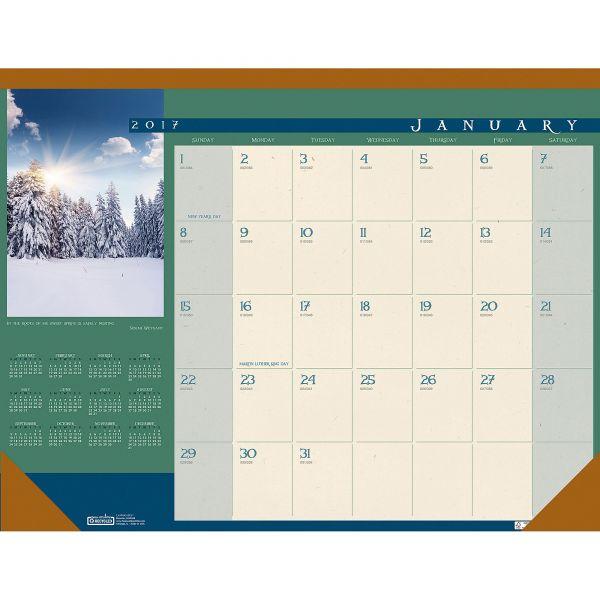 House of Doolittle Landscapes Monthly Desk Pad Calendar