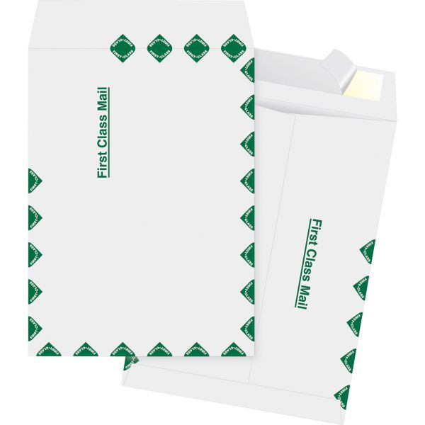 "Business Source 9 1/2"" x 12 1/2"" First Class Tyvek Envelopes"