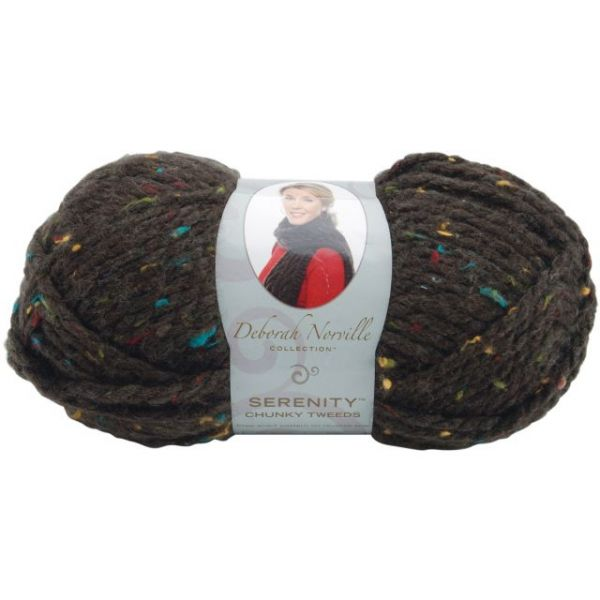Deborah Norville Collection Serenity Chunky Tweed Yarn - Coffee Bean