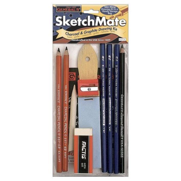 SketchMate Charcoal & Graphite Drawing Kit 9pcs