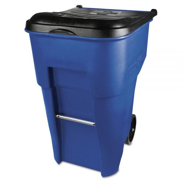 Rubbermaid Commercial Brute Rollout 95 Gallon Trash Can with Lid