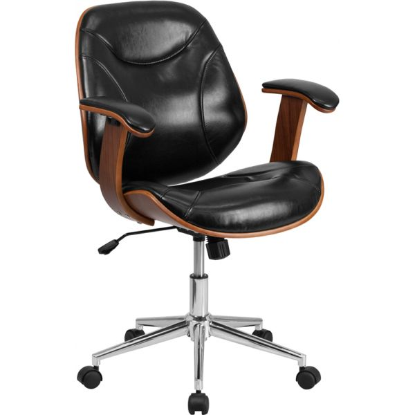 Flash Furniture Mid-Back Leather Executive Office Chair