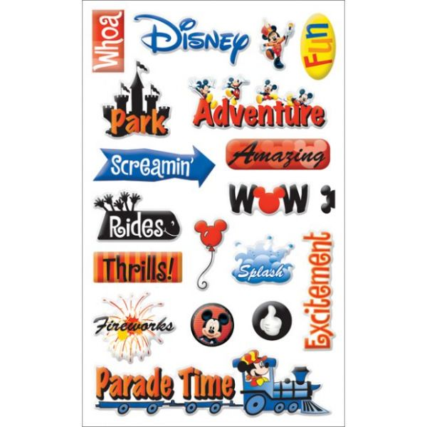 Disney Gems Stickers Packaged