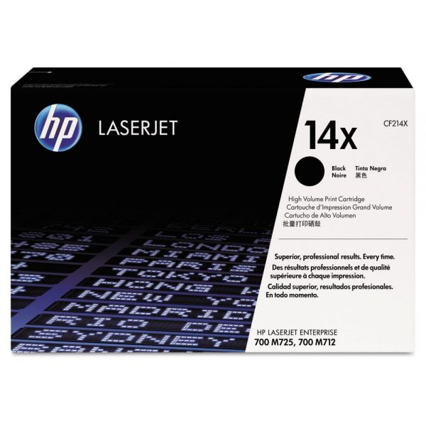 HP 14X Black High Yield Toner Cartridge (CF214X)