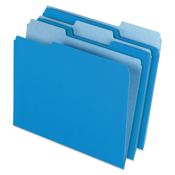 Pendaflex Blue Colored File Folders