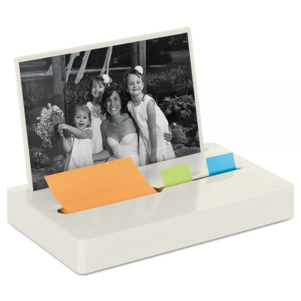 "Post-it Pop-up Notes Super Sticky Pop-up Note/Flag Dispenser Plus Photo Frame with 3 x 3 Pad, 50 1"" Flags, White"