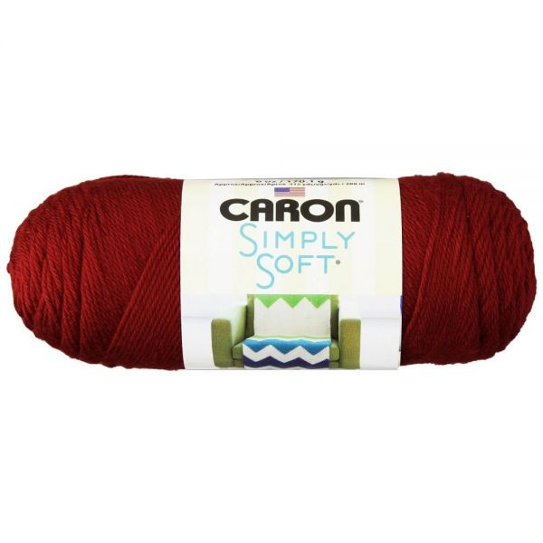 Caron Simply Soft Yarn - Autumn Red