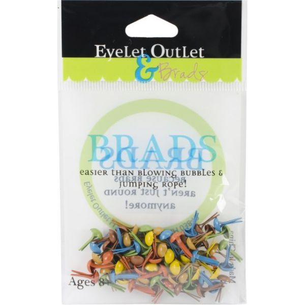 Eyelet Outlet Round Brads 4mm 70/Pkg