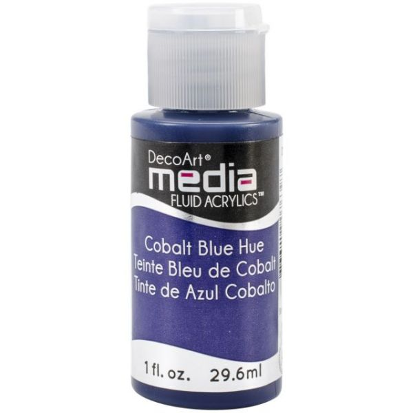 Deco Art Cobalt Blue Hue Media Fluid Acrylic