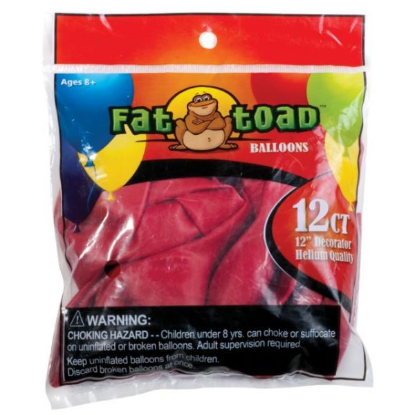 "Fat Toad Latex Balloons 12"" 12/Pkg"