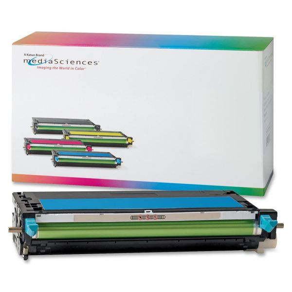 Media Sciences Remanufactured Dell 330-1194 Cyan Toner Cartridge