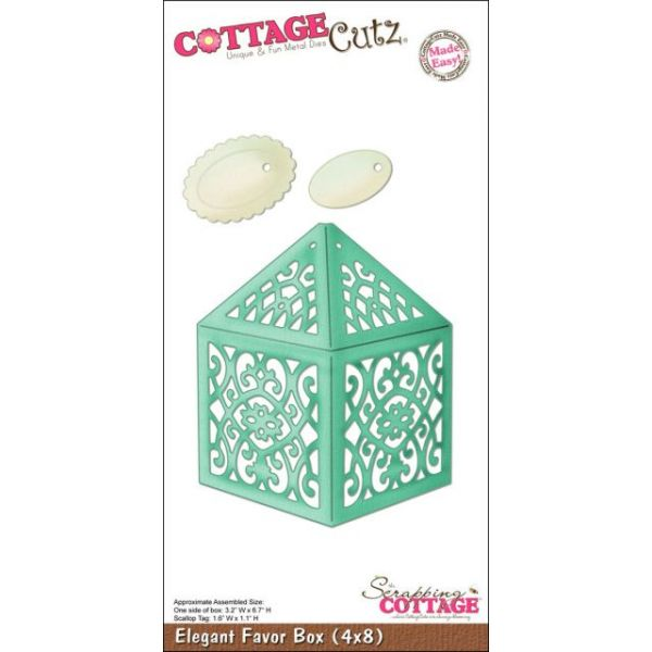 CottageCutz Elegant Favor Box Die