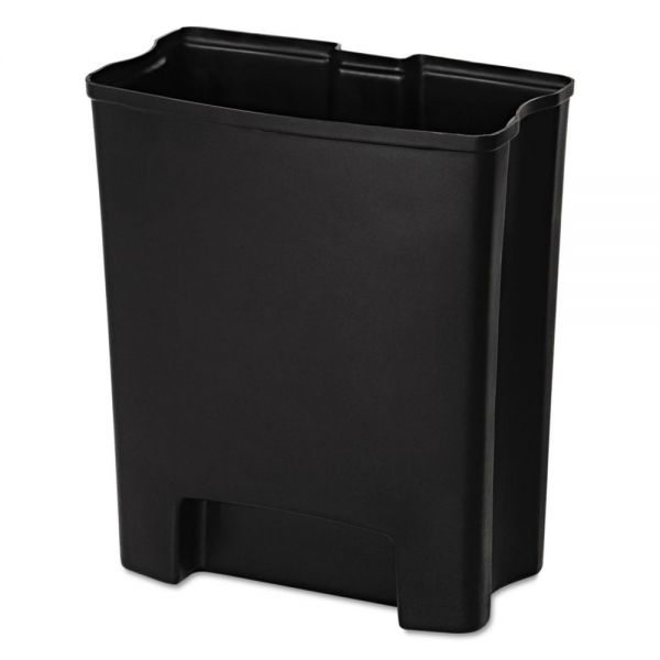 Rubbermaid Commercial Step-On Rigid Liner For Resin Front Step, Plastic, 24 gal, Black
