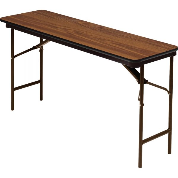 Iceberg Premium Wood Laminate Rectangular Folding Table