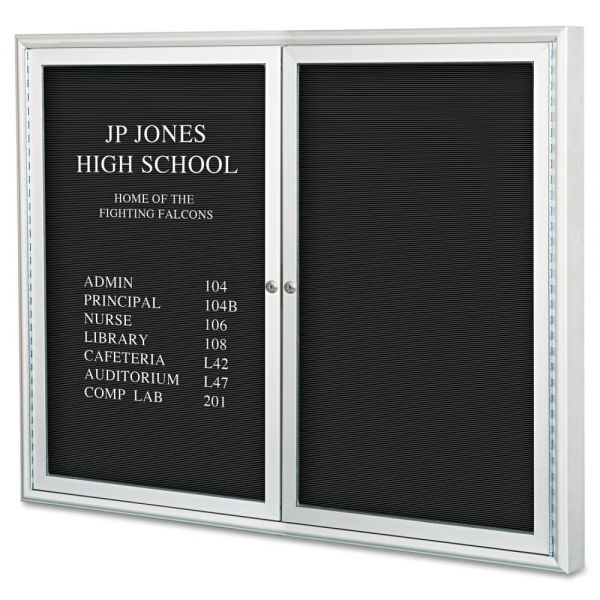 Best-Rite Enclosed Directory Board - 48x36 - Aluminum Frame