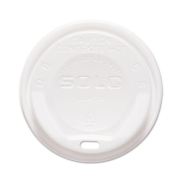 Dart Gourmet Hot Cup Lids, For Trophy Plus Cups, 12-20 oz, White, 1500/Carton