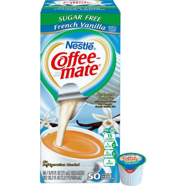 Coffee-Mate Sugar-Free French Vanilla Coffee Creamer Mini Cups