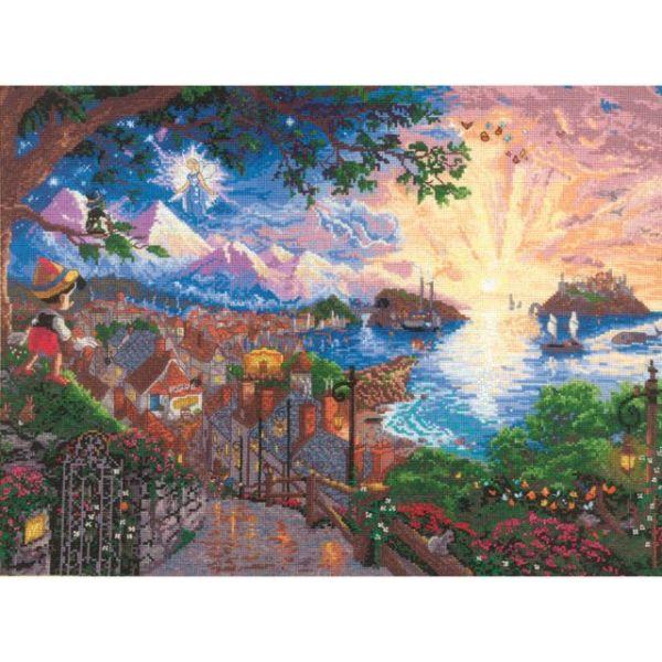 Disney Dreams Collection By Thomas Kinkade Pinocchio Wishes