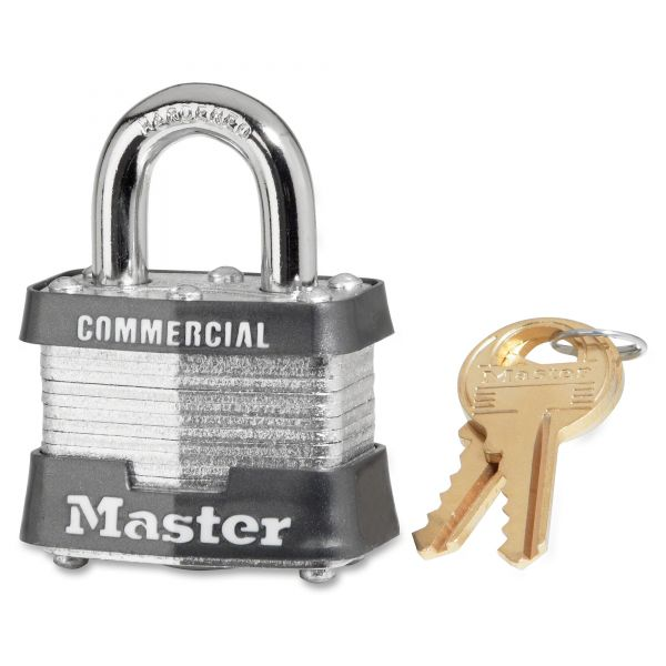 Master Lock 1-9/16in (40mm) Wide Laminated Steel Pin Tumbler Padlock