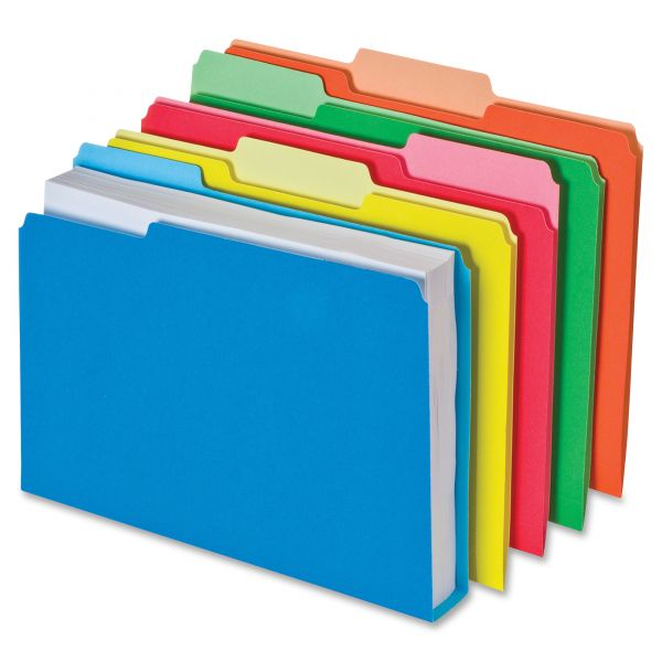 Pendaflex Double Stuff File Folders, 1/3 Cut, Letter, Assorted, 50/Pack