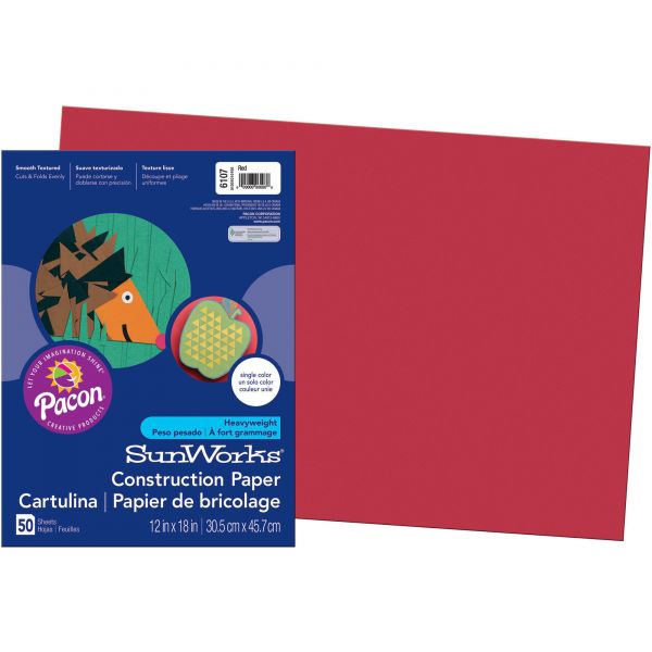 SunWorks All-Purpose Red Construction Paper