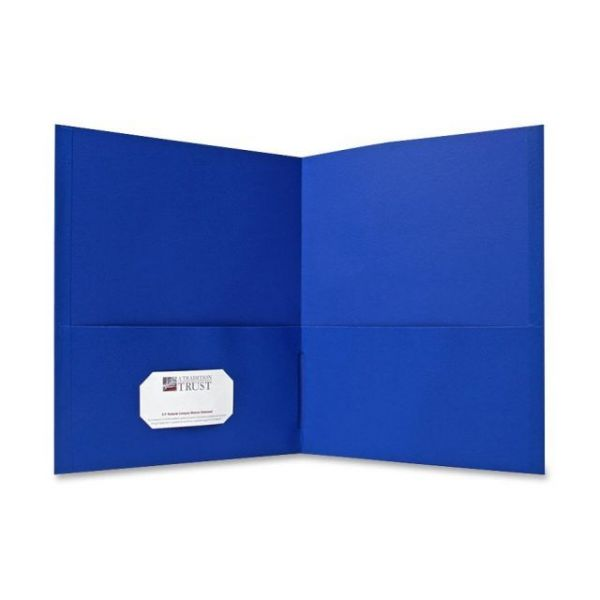 Sparco Light Blue Two Pocket Folders