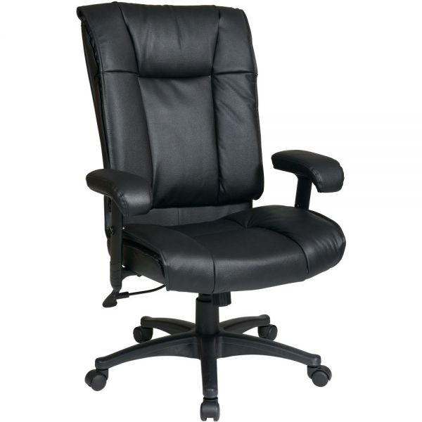 Office Star EX9382-3 Deluxe High Back Executive Leather Office Chair