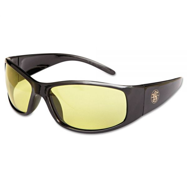 Smith & Wesson Elite Safety Glasses, Amber Anti-Fog Lens
