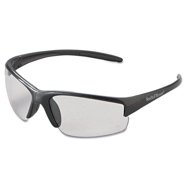 Smith & Wesson Equalizer Safety Glasses, Gun Metal Frame, Clear Anti-Fog Lens