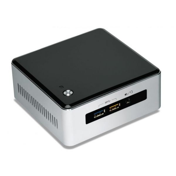 Intel NUC5I7RYH Desktop Computer - Intel Core i7 i7-5557U 3.10 GHz - Mini PC - Silver, Black