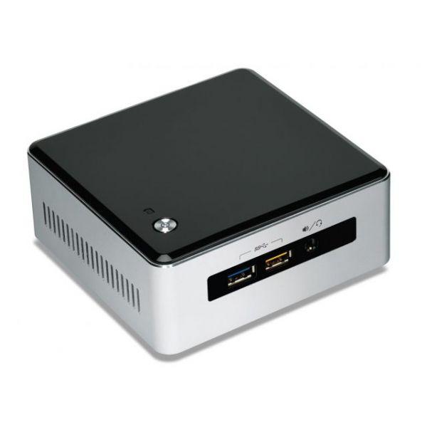 Intel NUC5I7RYH Desktop Computer - Intel Core i7 i7-5557U 3.10 GHz - Mini PC - Silver, Black